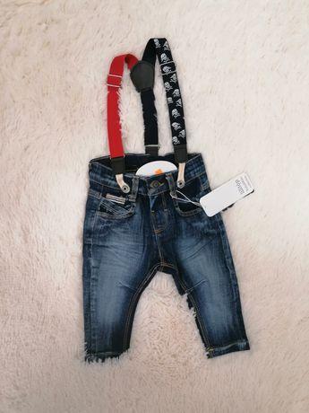 Spodnie 80 jeans chłopiec