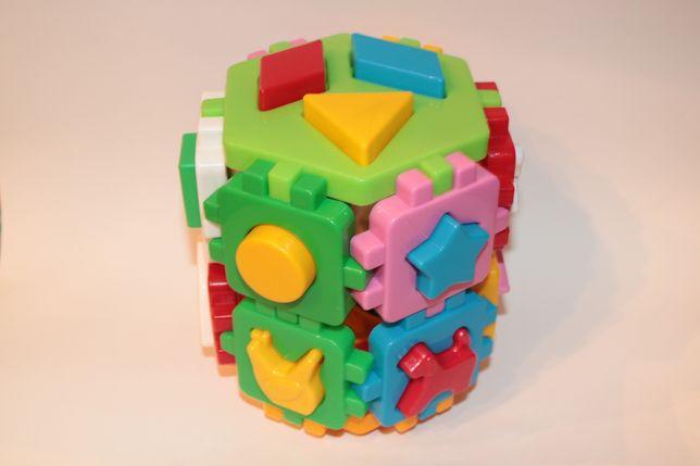 Кубик игрушка конструктор для самых маленьких