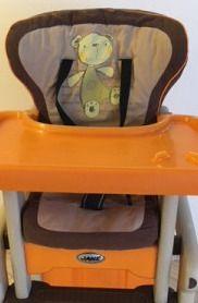 Стул Jane с ремнями без столика для кормления ребенка.