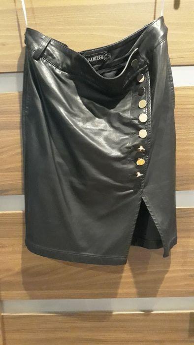Spódnica skórzana złote guziki Łubniki - image 1