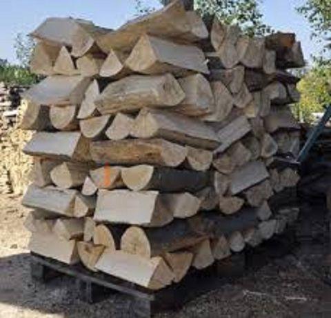 Opałowe/kominkowe-sezonowane drewno, połupane,