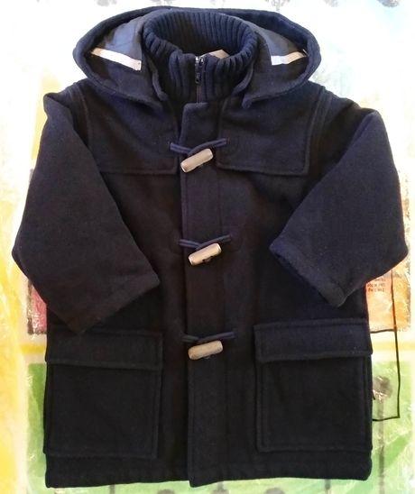 Шерстяное пальто дафлкот куртка осень зима H & m zara 92 на 2 года