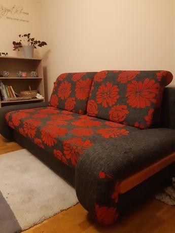 kanapa rozkładana grafitowa