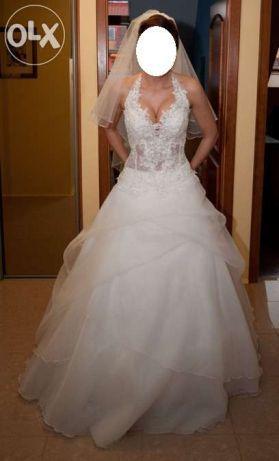 prześliczna suknia na zimowy ślub