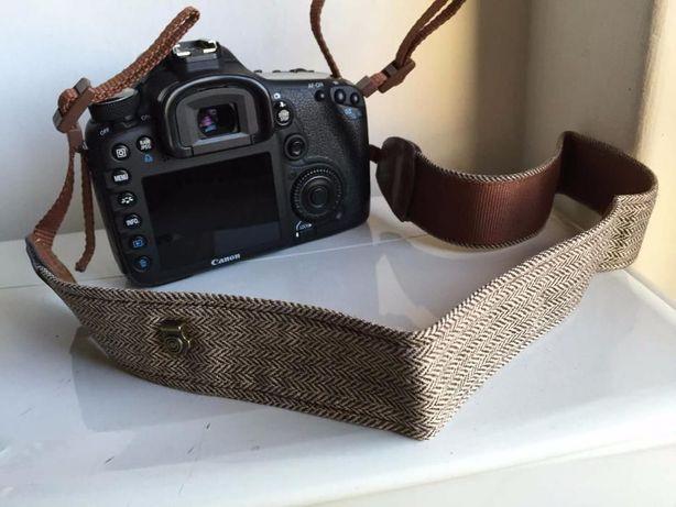 Fita Correia Tecido Castanho Máquina Fotográfica DSRL Canon Nikon Sony
