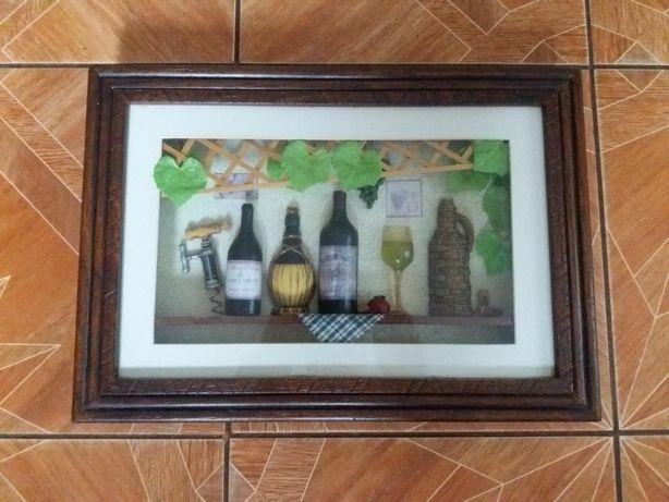 Картина под стеклом хенд мей предметы интерьера