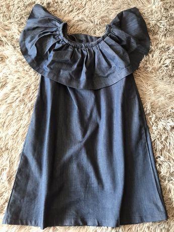 Джинсовое платье. Сарафан. Сукня жіноча. Універсальний розмір. Баска.
