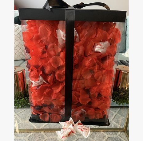 Miś z róż 40cm PROMOCJA!bear w pudełku box +płatki dzień matki wawa