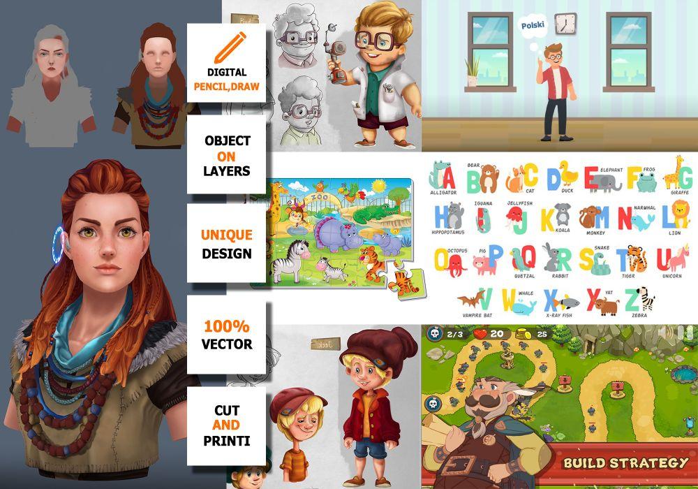 Rysownik/ GRAFIK 2D (GAMEDEV) – Ilustracje dla gier | Animacje | Gify