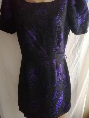 Платье М черно - фиолетовое