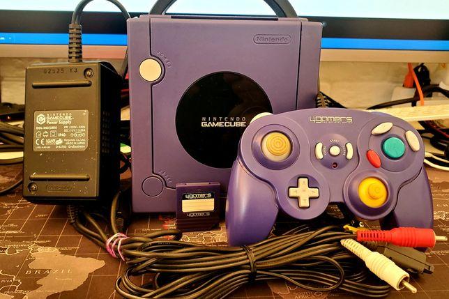 GameCube pal 64гб консоль чипована и забита играми