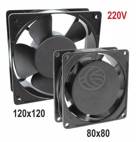 Ventiladores metal 220V - 80x80 e 120x120 mm (ventoinhas)
