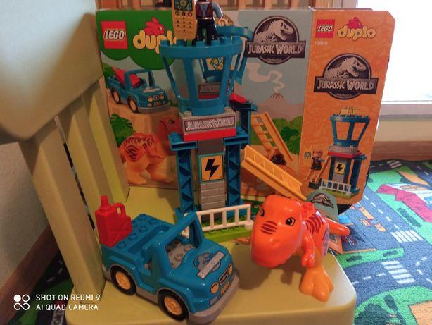 LEGO Duplo park Jurajski 10880 wieża tyranozaura BDB