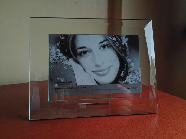 Moldura 10X15 cm Vidro Trabalhado em Bisel - Nova !!!