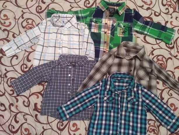 рубашки на 1-2 года вещи пакетом на мальчика