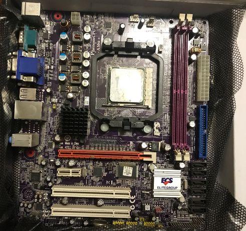 Материнская плата+процессор встроенное видео AMD Elitegroup Athlon-64