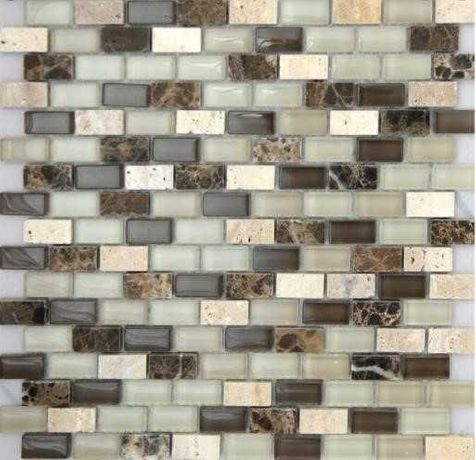 Мозаика стекло, мраморная, травертин мозайку плитка
