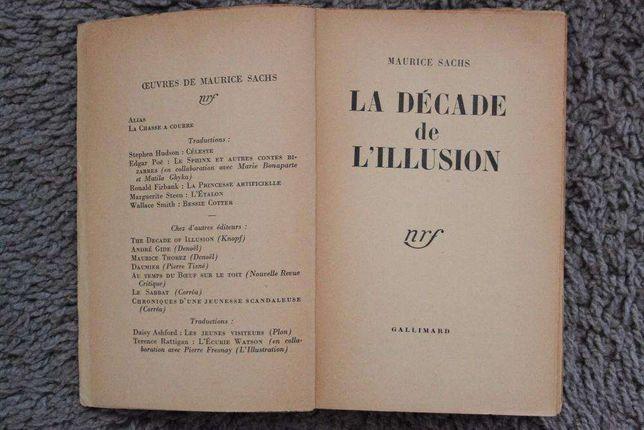 """M.Sachs""""La decada de l'illusion""""1950"""