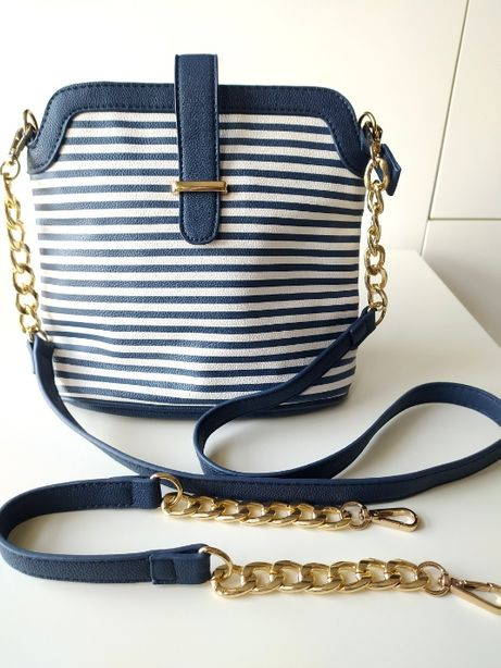 Nowa torebka w paski styl marynarski Mohito