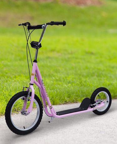Trotinete com rodas de Bicicleta | Pneumaticos de enchimento