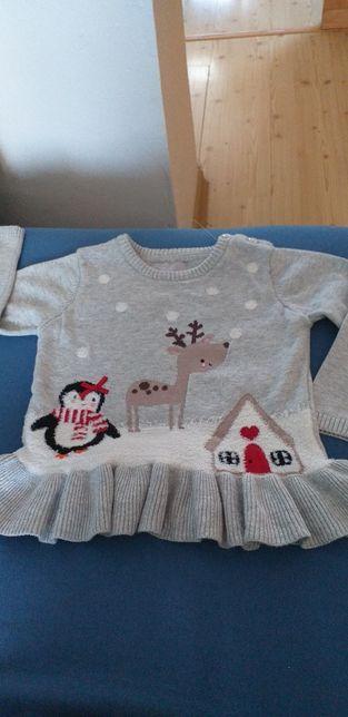 Sweterek dziewczecy 18-24mies.