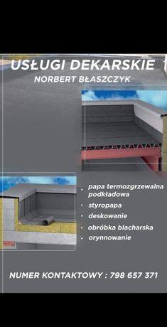 Usługi dekarskie krycie papą papa termozgrzewalna dach