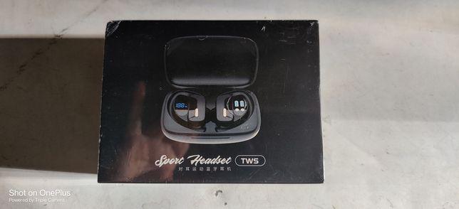 Auriculares desportivos bluetooth 5. 0 TWS  T17 carregamento typ c
