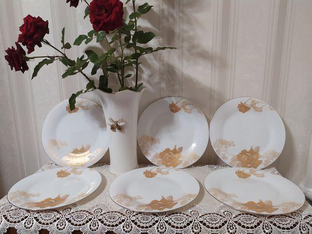 Красивые тарелки 8 штук