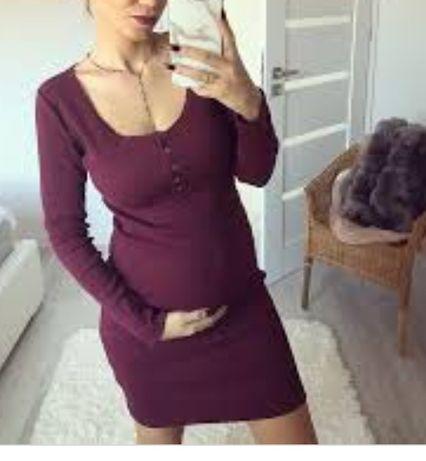 Sprzedam sukienkę basic kolor bordowy