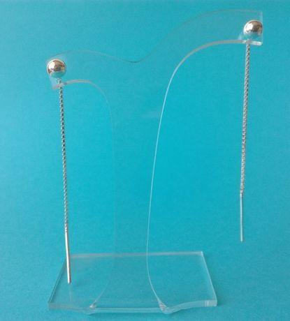 Kolczyki srebrne przewlekane z kuleczka