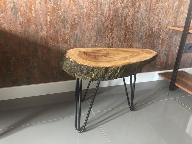 Stolik kawowy / nocny z plastra drewna czareśni