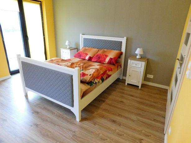 Łóżko,retro,drewniane,styl angielski