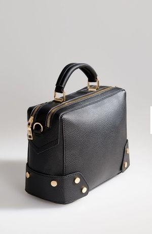 Czarna torebka damska na szerokim pasku ekoskorka super jakość