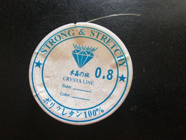 Нить бисерная 0.8  Crysta line strong&stretchy