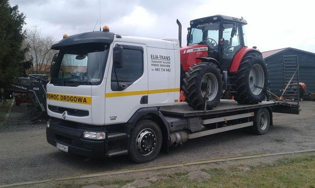transport maszyn rolniczych,ciągników, kombajnów zbożowych, koparek