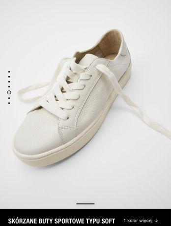 Buty skórzane Soft Zara