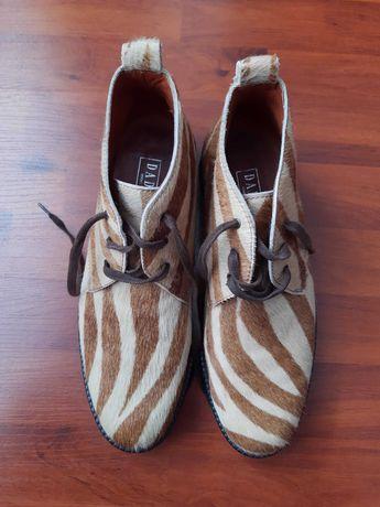 DaDa мужские ботинки, натуральная зебра. Оригинал.