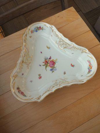 Półmisek zdobiony, porcelana, vintage, antyk