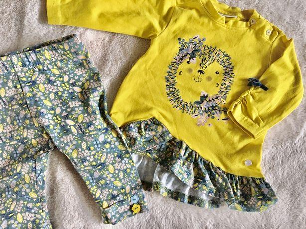 Bluzka bluzeczka i leginsy coccodrillo 62/komplet dla dziewczynki/nowy