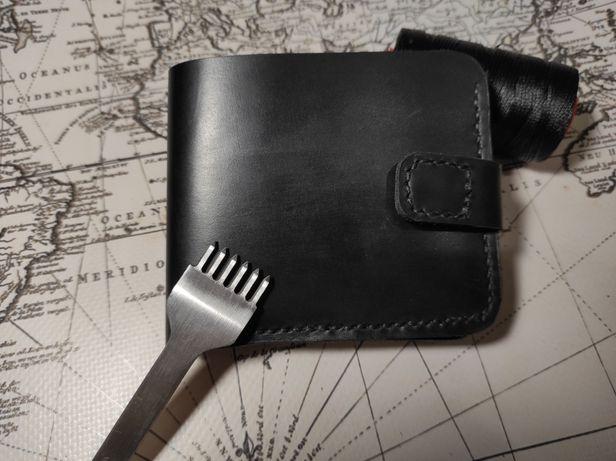 Кожаный кошелек, портмане , ручной работы
