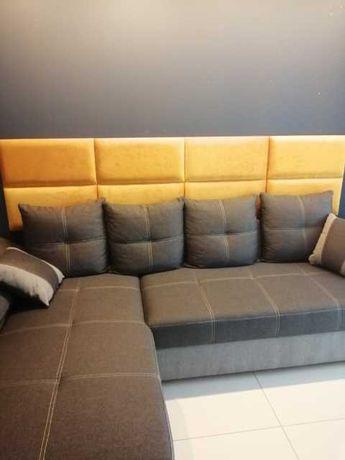 panele panel tapicerowane akustyczne sypialnie garderoby wnęki