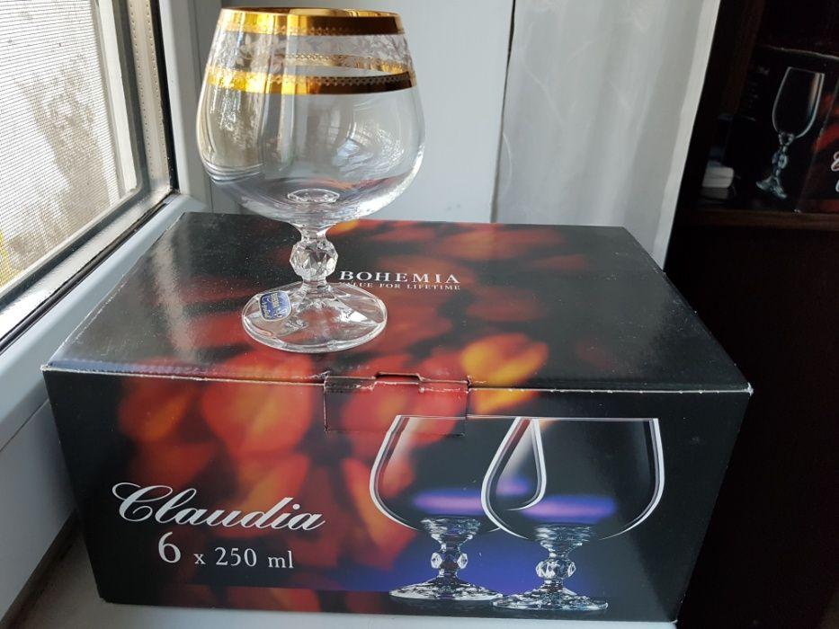 Богемия набор бокалов для коньяка с золотом Bohemia Claudia Киев - изображение 1
