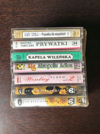 Zestaw 7 kaset magnetofonowych