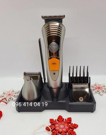 Триммер,машинка для стрижки волос и бороды, бритва Geemy GM 580-A 7в1.