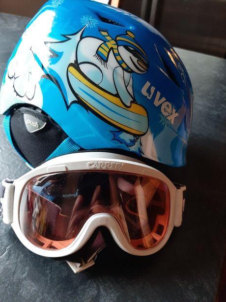 UVEX kask dla dziecka 52-54 plus okulary Carrera