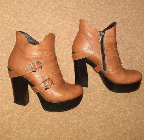 Ботинки, сапоги, демисезонные, кожа 39 р