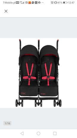 Wózek bliźniaczy  maclaren twin duo parasolka