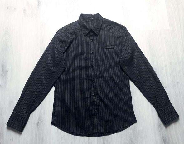 Męska koszula taliowana slim L