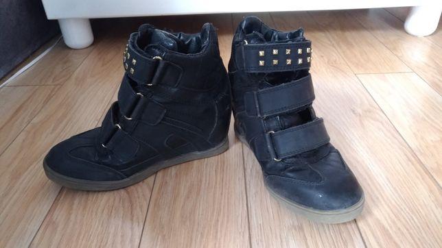 Buty damskie na koturnie rozmiar 38