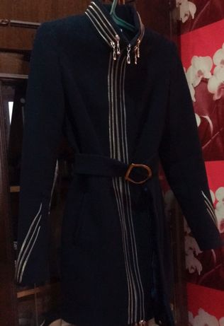 Кашемировое Пальто Темно-синее